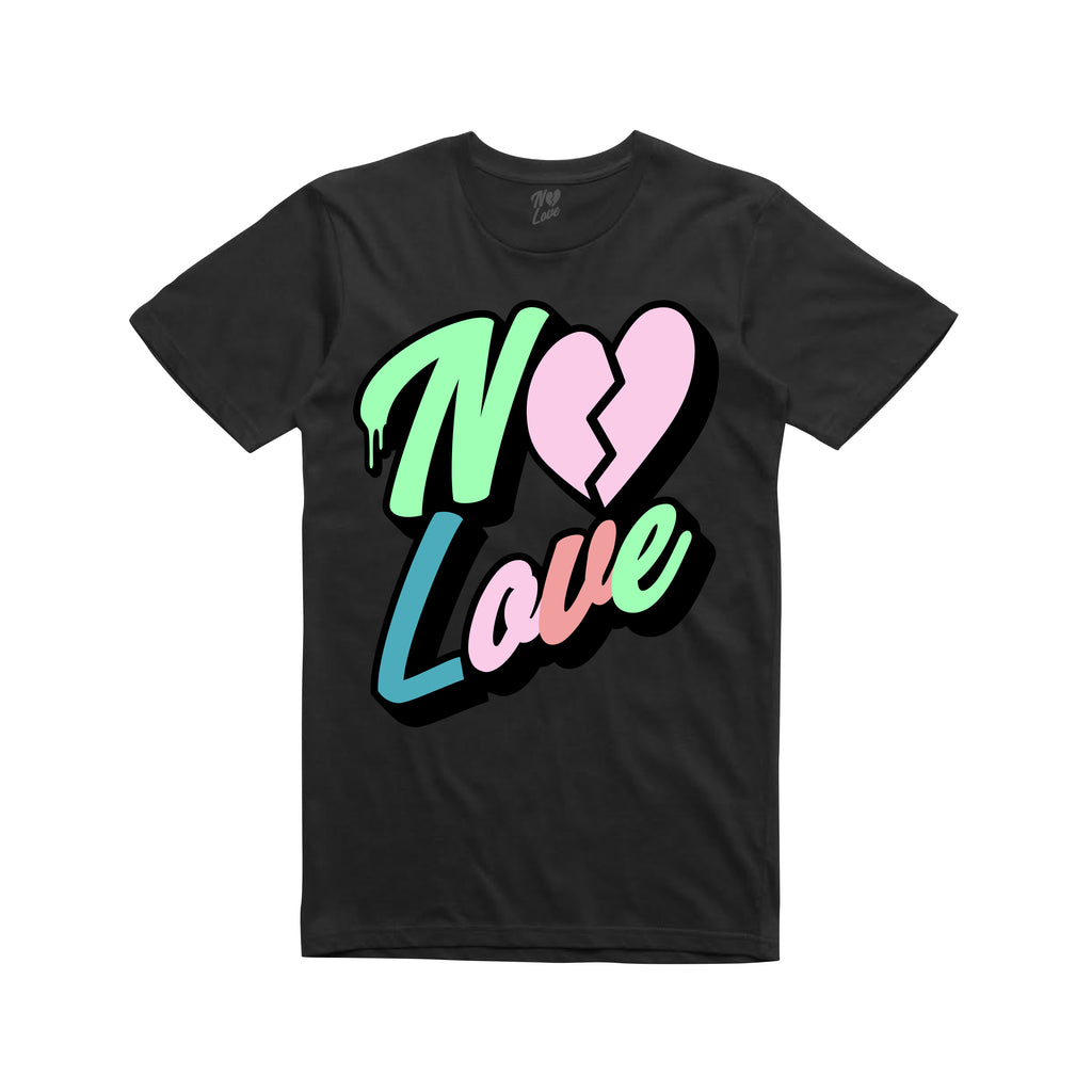 No Love Chenille Patch T-shirt - Black