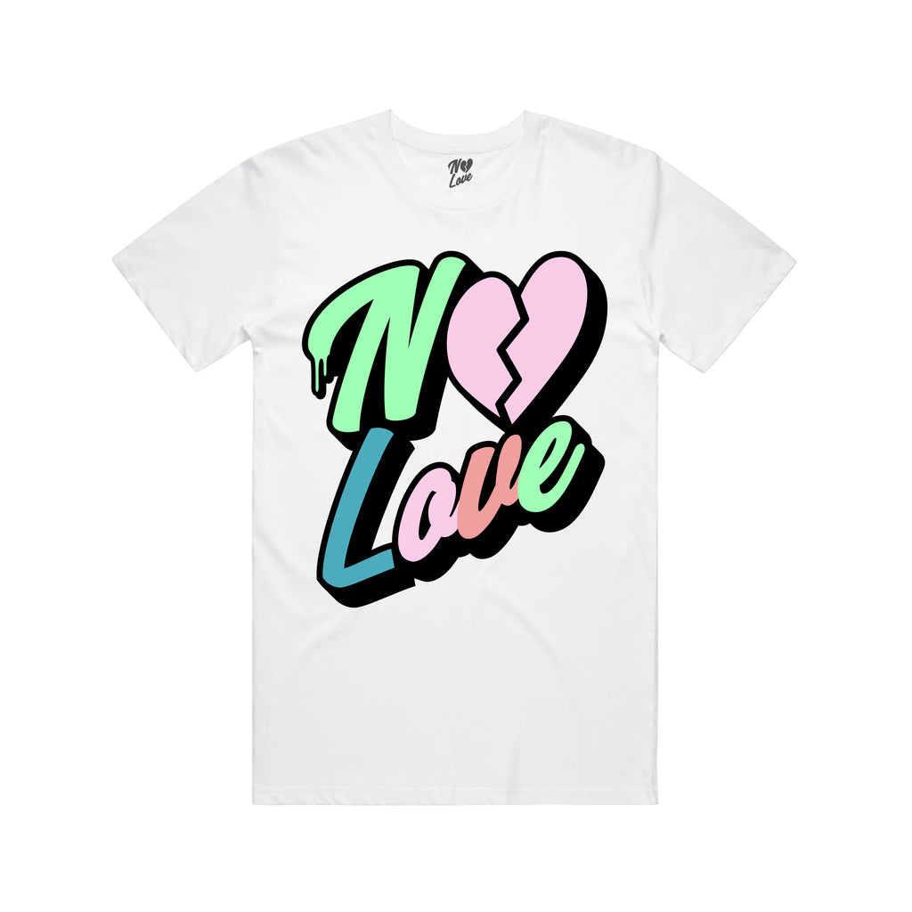 No Love Chenille Patch T-shirt - White