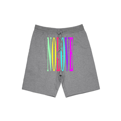 No Love Colors Jogger Short - Grey