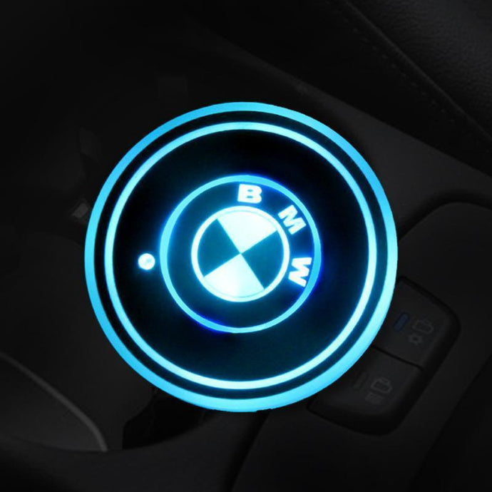 7 Colors Led Car Logo Cup BMW gotolovely