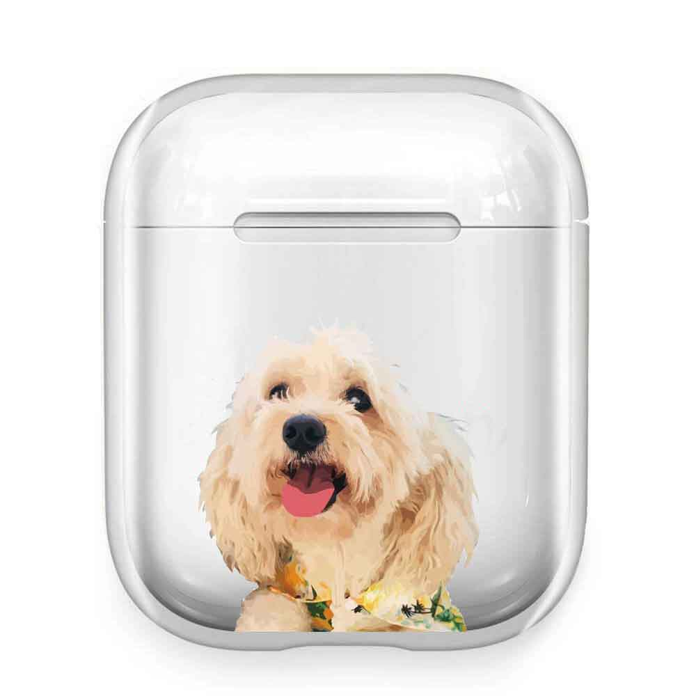 Custom Pets Portrait Airpods/Airpods Pro Clear Case - Pet Art Pet Memorial Ideas