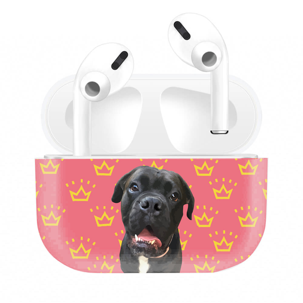 Custom Pet Art Airpods/Airpods Pro Case Skin (Full Print) - Pet Art Pet Memorial Ideas