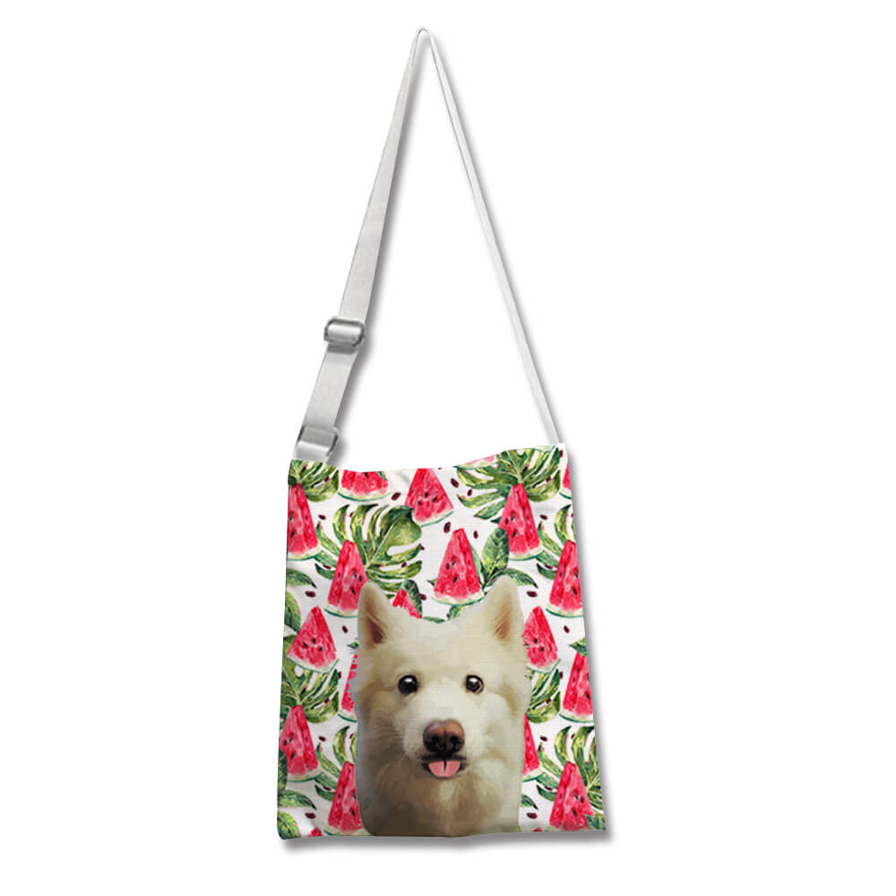 Custom Pet Cross-body Canvas Bag - Pet Art Pet Memorial Ideas