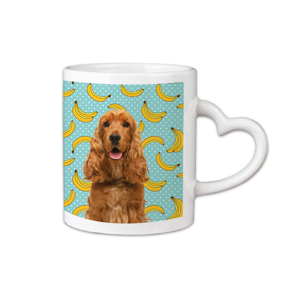 Custom Pet Coffee Mug(Love Heart Holder)