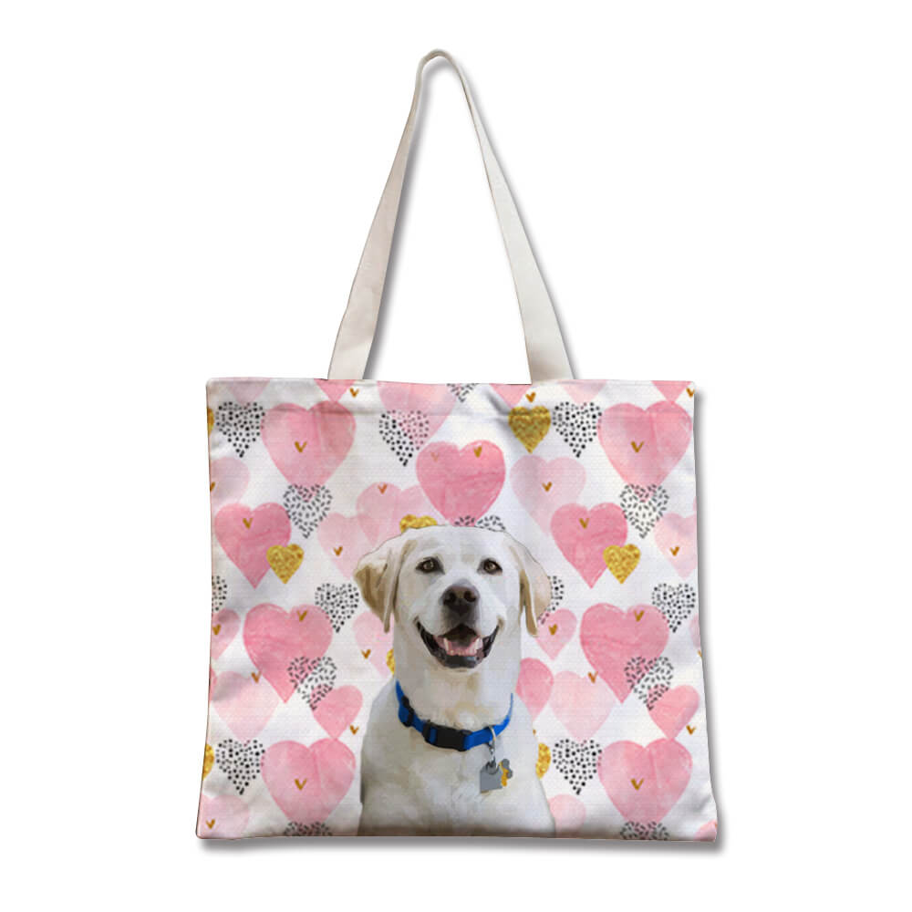Custom Pet Canvas Tote Shopper(Width)