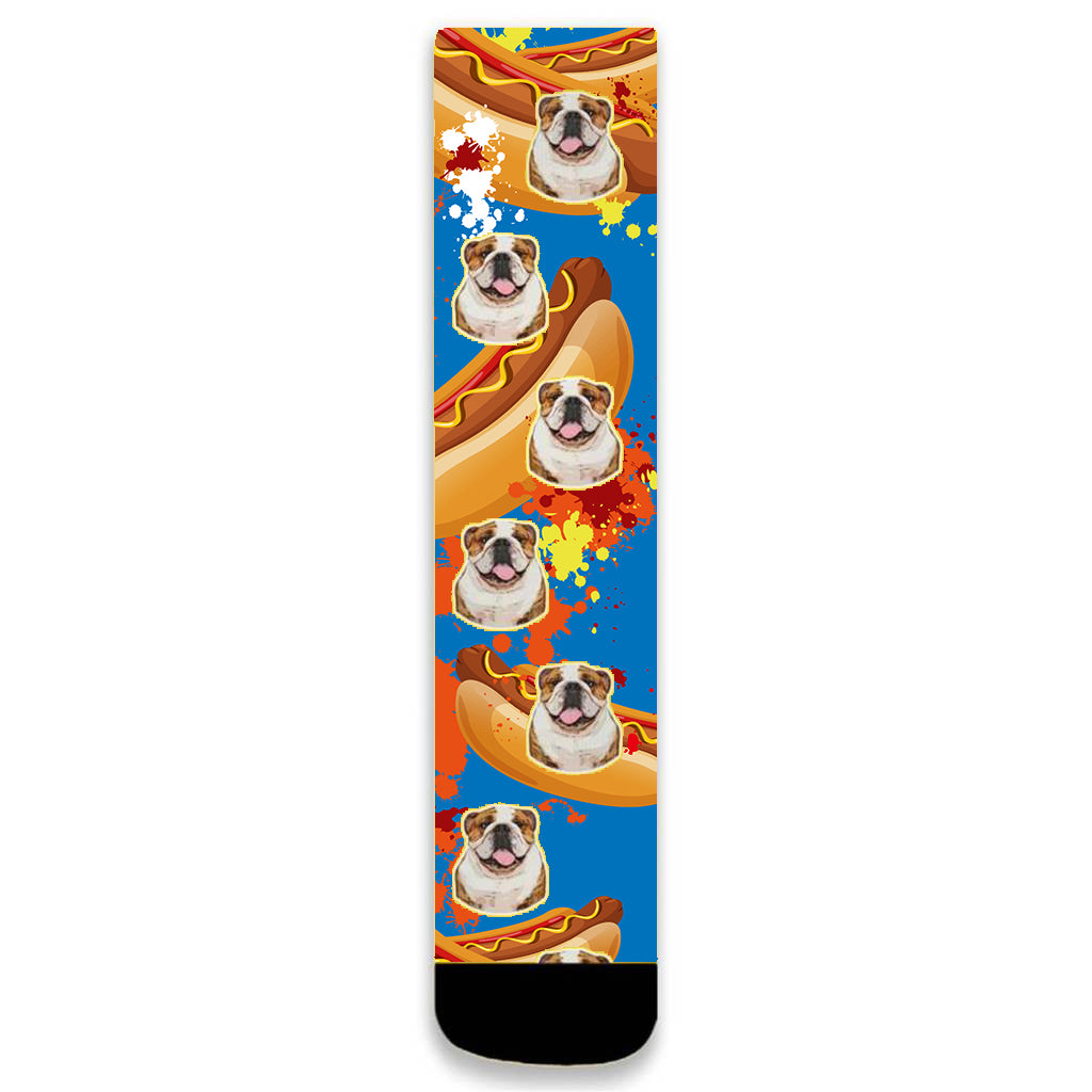 Custom Pet Face Art Socks - Pet Art Pet Memorial Ideas