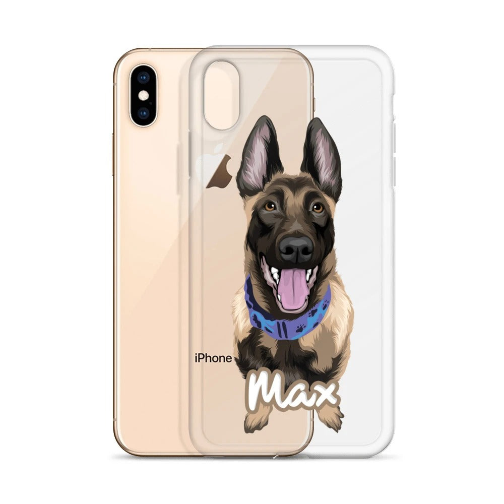 Custom Pet Art iPhone Clear Case - Pet Art Pet Memorial Ideas