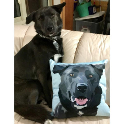 Custom Pet Art Pillow Cover 16inx16in - Pet Art Pet Memorial Ideas