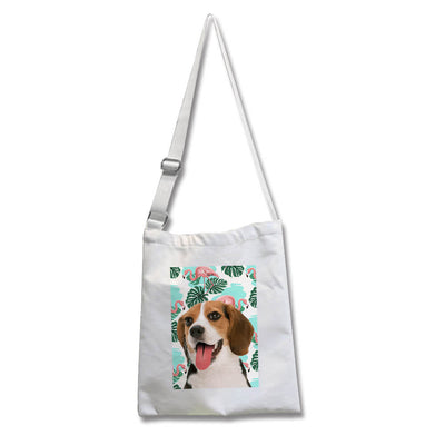 Custom Pet Cross-body Canvas Bag - Pet Memorial Ideas
