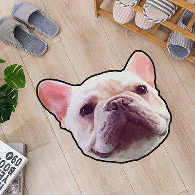 Custom Pet Portrait Shaped Door Mat/House Carpet - Pet Art Pet Memorial Ideas