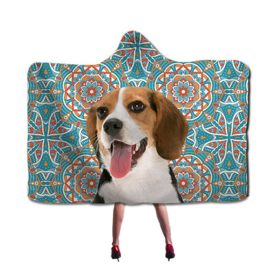 Custom Pet Art Hooded Soft Fleece Blanket Cloak - Pet Art Pet Memorial Ideas