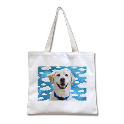 Custom Pet Canvas Tote Shopper(Width) - Pet Art Pet Memorial Ideas