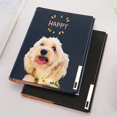 Custom Pet Portrait Leather Note Book (A5)