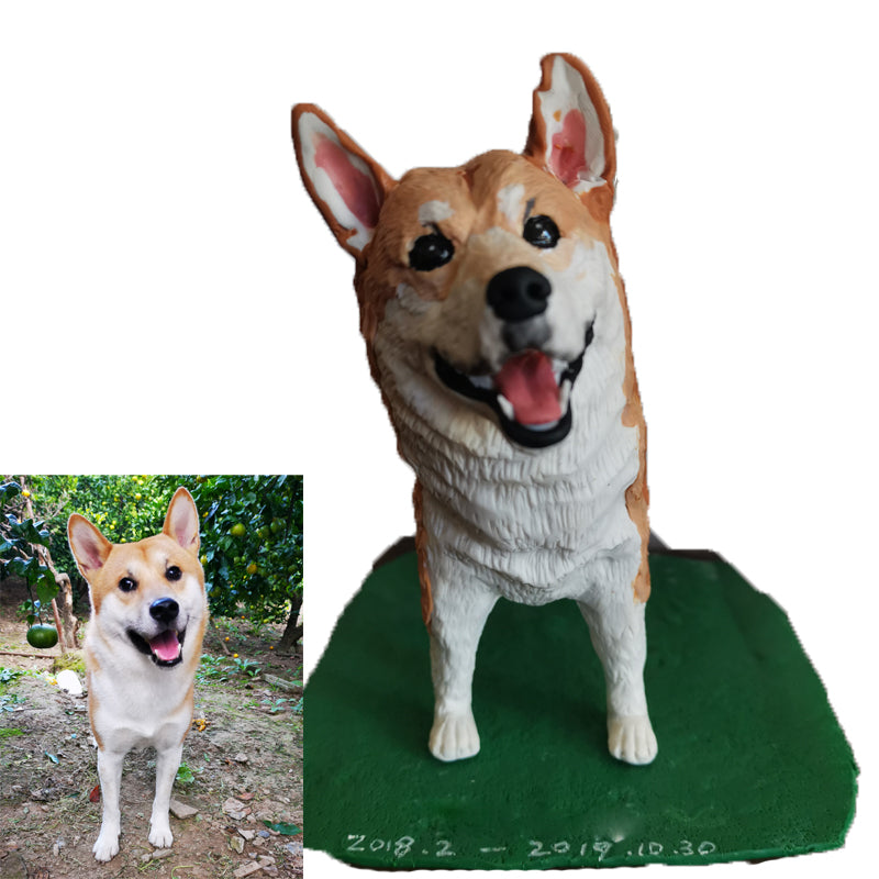 Custom Pet Art Polymer Clay Figure - Pet Memorial Ideas