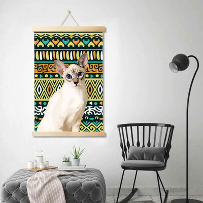 Custom Pet Art Canvas Poster Wooden Frame Hanger - Pet Art Pet Memorial Ideas