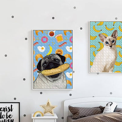 Custom Pet Art Puzzle - Pet Memorial Ideas