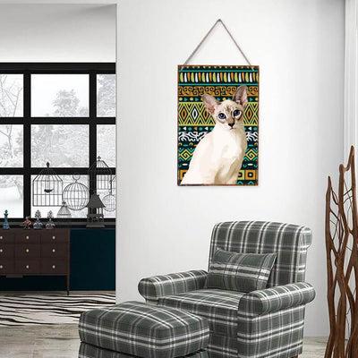 Custom Pet Art Vintage Tin Sign Metal Paintings Wall Decor - Pet Memorial Ideas