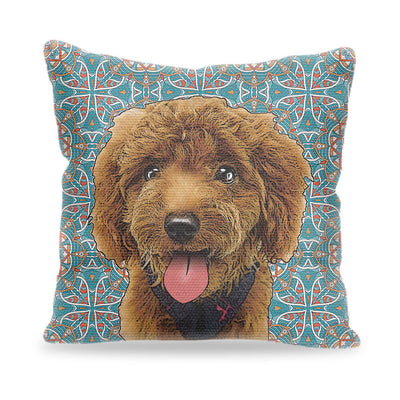 Custom Pet Art Pillow Cover 18inx18in - Pet Art Pet Memorial Ideas