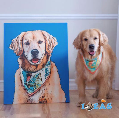 Custom Pet Art Stretched Canvas Prints - Pet Art Pet Memorial Ideas