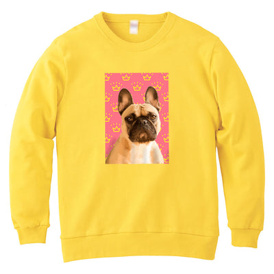 Custom Pet Art Crew Neck Sweatshirt-Kids(Light Weight) - Pet Memorial Ideas