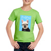 Custom Pet Art Crew Neck Tee - Kids(Standard Fitted) - Pet Memorial Ideas