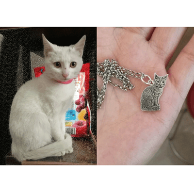 Custom Pet Portrait Necklace 925 Silver - Pet Art Pet Memorial Ideas