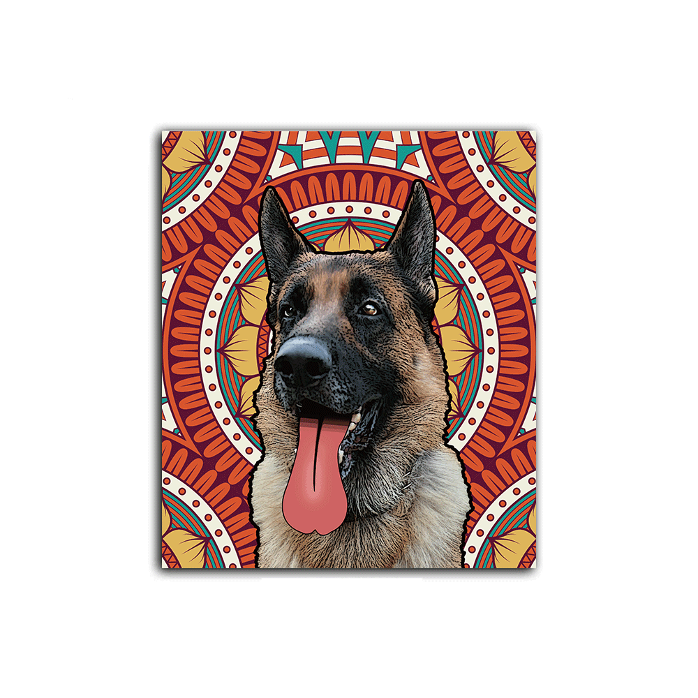 Custom Pet Art Stretched Canvas Prints - Pet Memorial Ideas