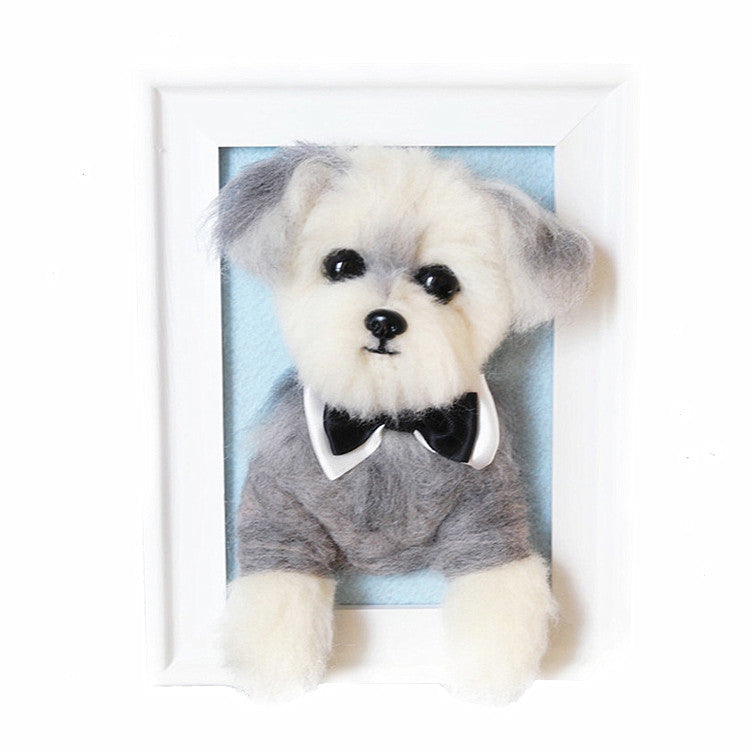 Custom Needle Felted Pet Portrait in Framed(Any Animal) - Pet Art Pet Memorial Ideas