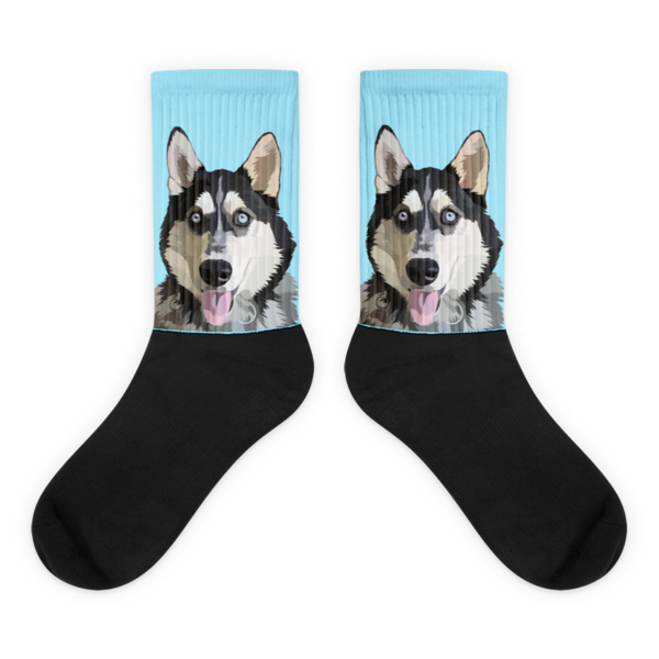 Custom Pet Socks Sideways Print(With Background Selection)