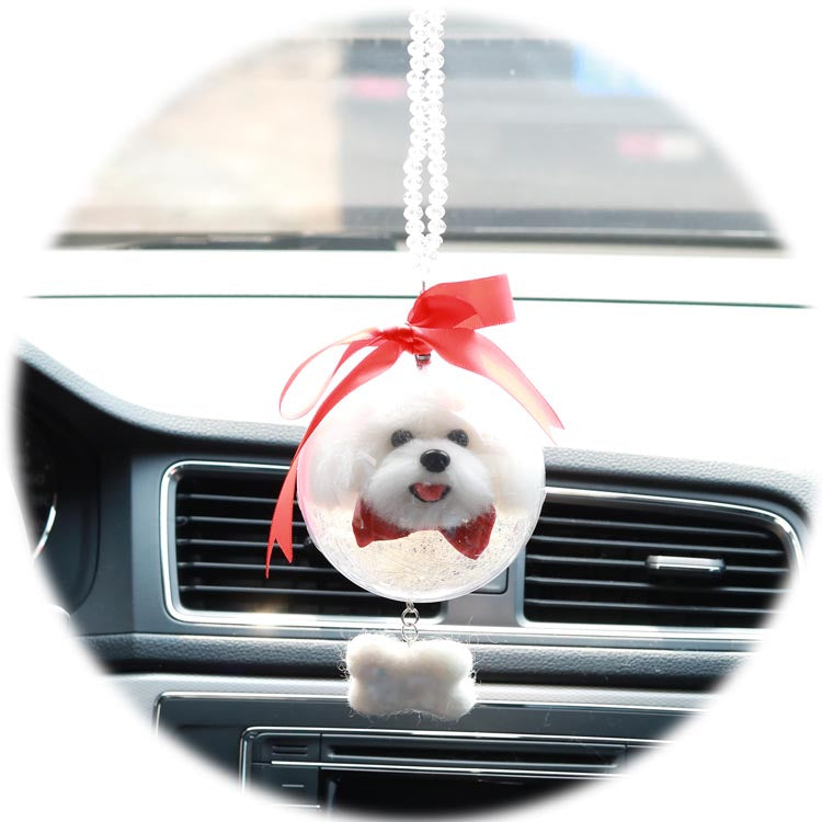Custom Pet Needle Felted Keychain Car Decoration - Pet Art Pet Memorial Ideas