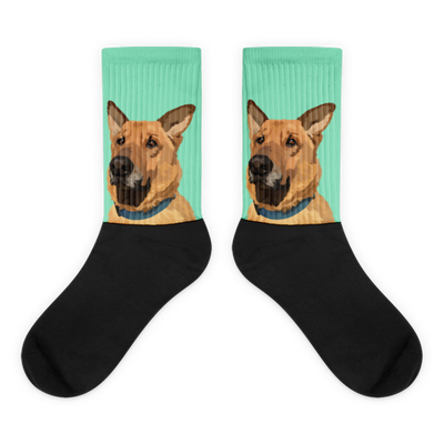 Custom Pet Socks Sideways Print(With Background Selection) - Pet Memorial Ideas