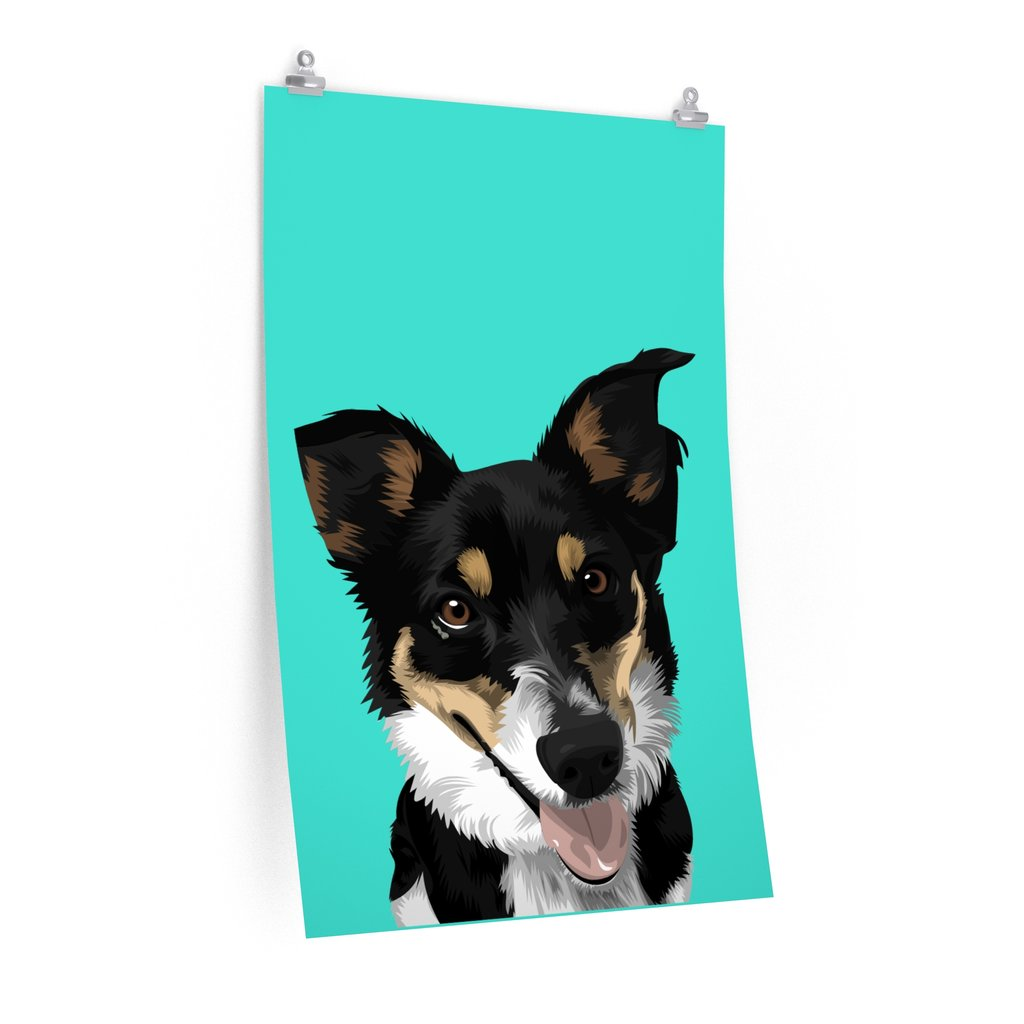 Custom Pet Art Premium Canvas Poster - Pet Art Pet Memorial Ideas