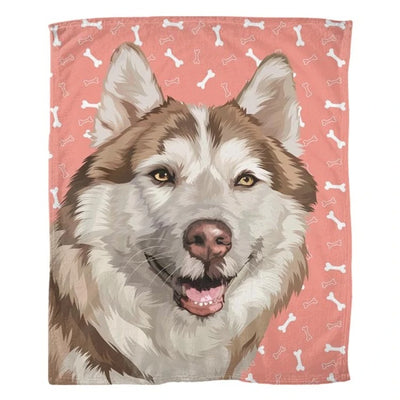 Custom Pet Art Blanket - Pet Memorial Ideas