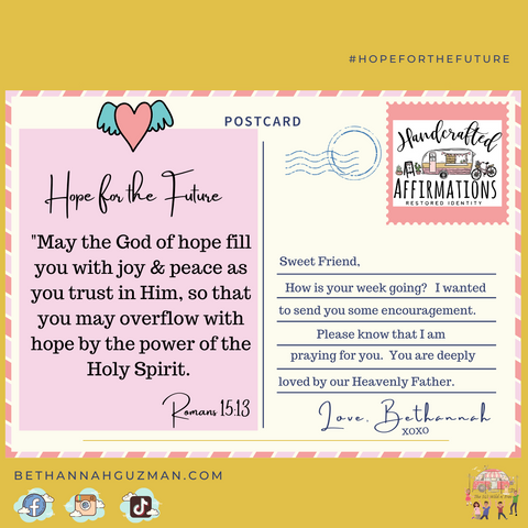 Postcard Hope for the future