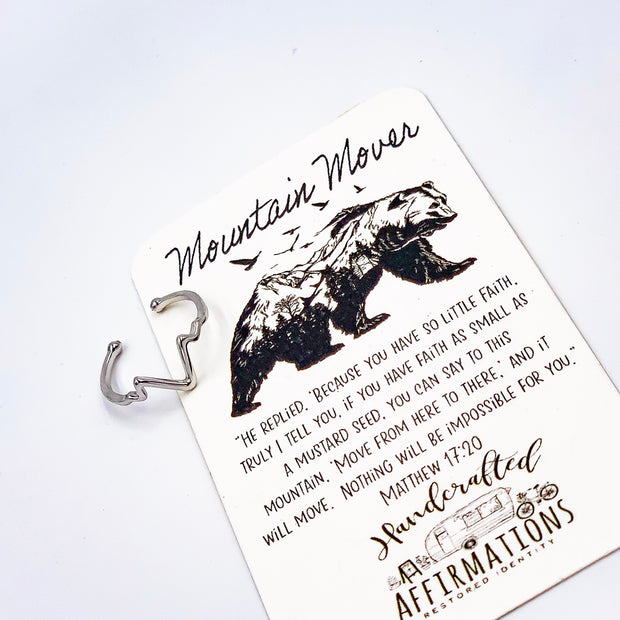 """Mountain Mover"" Ring-Handcrafted Affirmations"