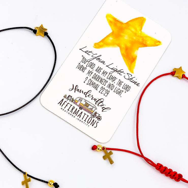 """Let Your Light Shine"" Handmade Bracelet-Handcrafted Affirmations"