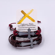 """Christ Centered Difference Maker"" Leather Bracelet-Handcrafted Affirmations"