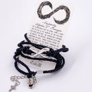 """Infinity"" Mens Leather Bracelet-Handcrafted Affirmations"