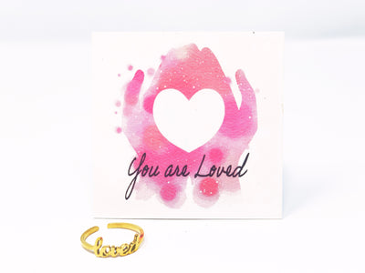 """Loved"" Word Ring-Handcrafted Affirmations"