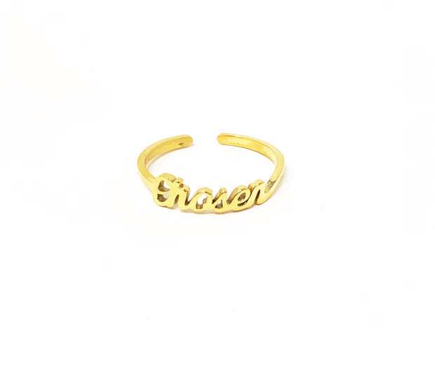 """You Were Chosen"" Ring-Handcrafted Affirmations"