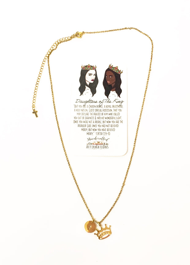 """Daughters Of The King"" Necklace-Handcrafted Affirmations"