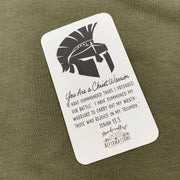 "Men's ""Christ Warrior"" Army Green Hoodies-Handcrafted Affirmations"