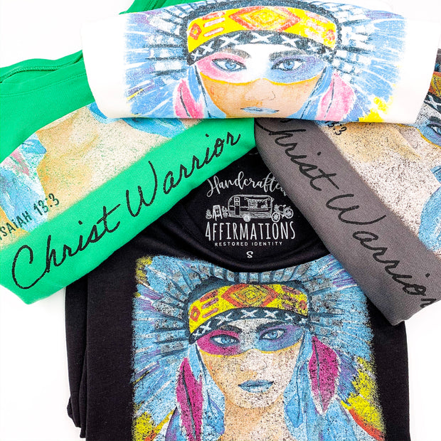 "Fierce ""Christ Warrior"" Female Sweatshirt-Handcrafted Affirmations"