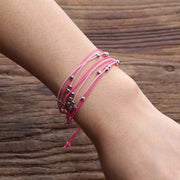 """Purchase With Purpose"" Handmade String Bead Bracelet-Handcrafted Affirmations"