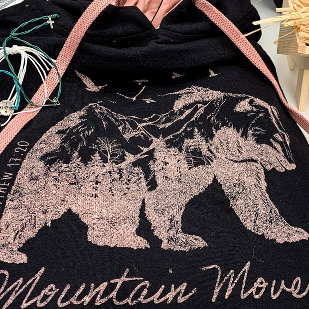 """Mountain Mover"" Female Hoodie-Handcrafted Affirmations"