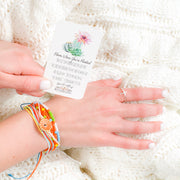 """Bloom Where You're Planted"" Handmade Bracelet Set-Handcrafted Affirmations"