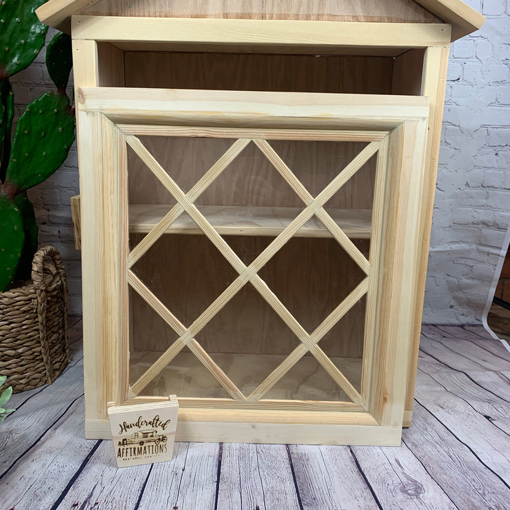 Diamond Pattern Window Custom Little Lending Library Door