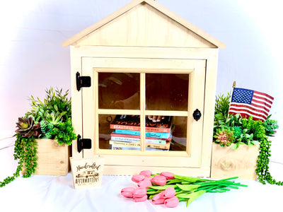 "Small Little Lending Library ""Walk In Love Box"""