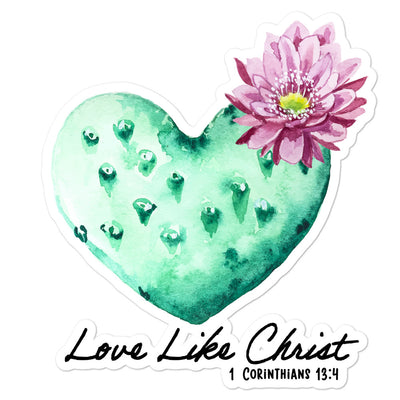 Love Like Christ Bubble-free stickers