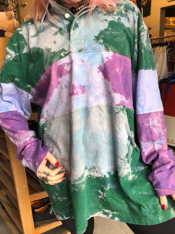 Oversized Tie Dye Rugby Shirt
